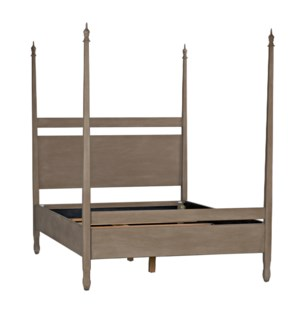 QS Venice Bed, Queen, Weathered