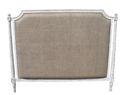 Isabelle Headboard, Eastern King, White Wash
