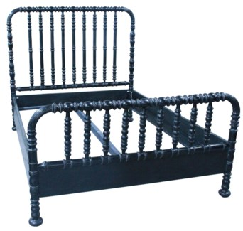 Bachelor Bed, CA King, Hand Rubbed Black