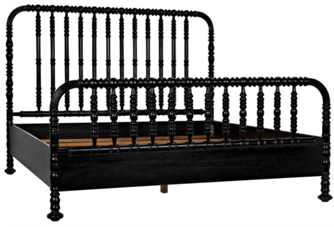 QS Bachelor Bed, Eastern King, Hand Rubbed Black