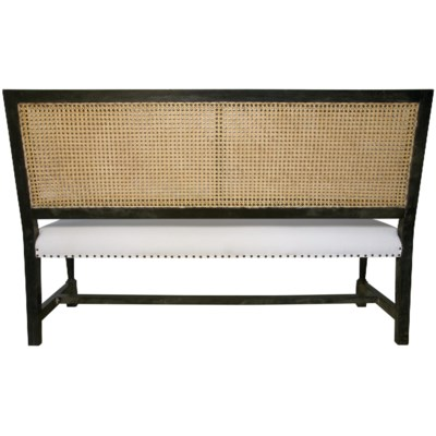 Colonial Caning Bench, Hand Rubbed Black