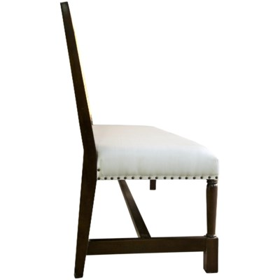 Colonial Caning Bench, Hand Rubbed Brown