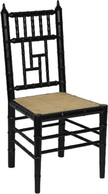 Hollywood Chair, Hand Rubbed Black