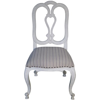 Tristan Side Chair, White Weathered