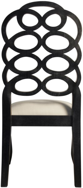 Cesara Side Chair, Hand Rubbed Black