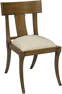 QS Athena Side Chair, Saddle Brown