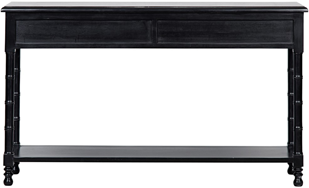 Bamboo Console, Hand Rubbed Black