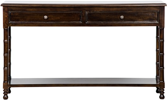 Bamboo Console, Hand Rubbed Brown