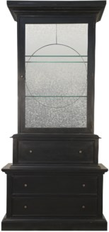 Trellis Hutch, Hand Rubbed Black