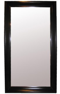 Colonial Floor Mirror, Large, Black
