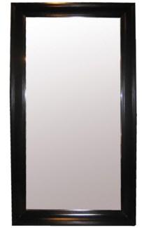 Colonial Floor Mirror, Large, Black