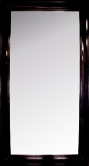 Colonial Floor Mirror, Large, Distressed Brown