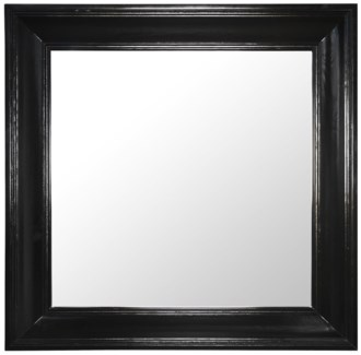 Colonial Square Mirror, Black
