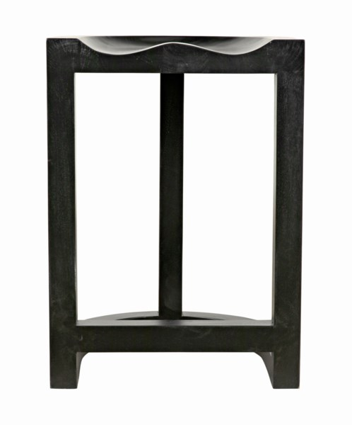 QS Saddle Counter Stool, Hand Rubbed Black
