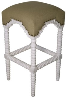 QS Abacus Bar Stool, White Wash