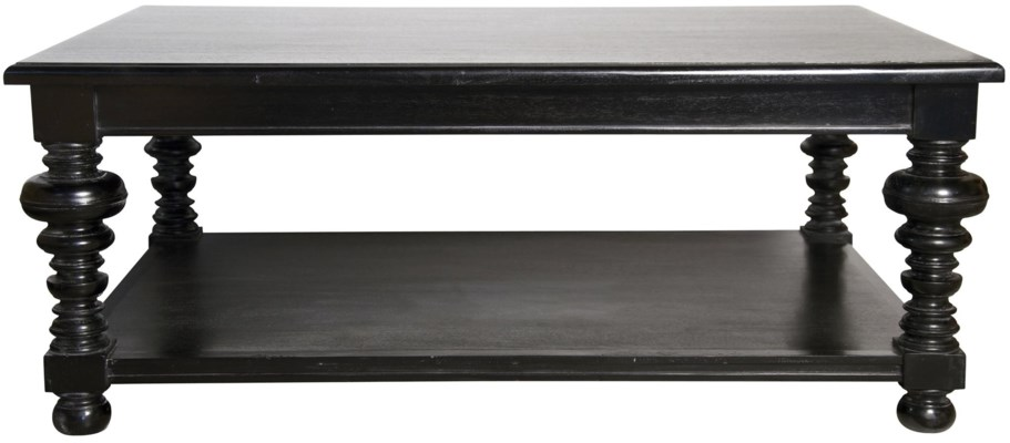 Ferret Coffee Table, Hand Rubbed Black