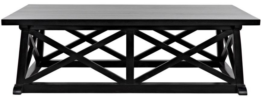 QS Sutton Coffee Table, Hand Rubbed Black