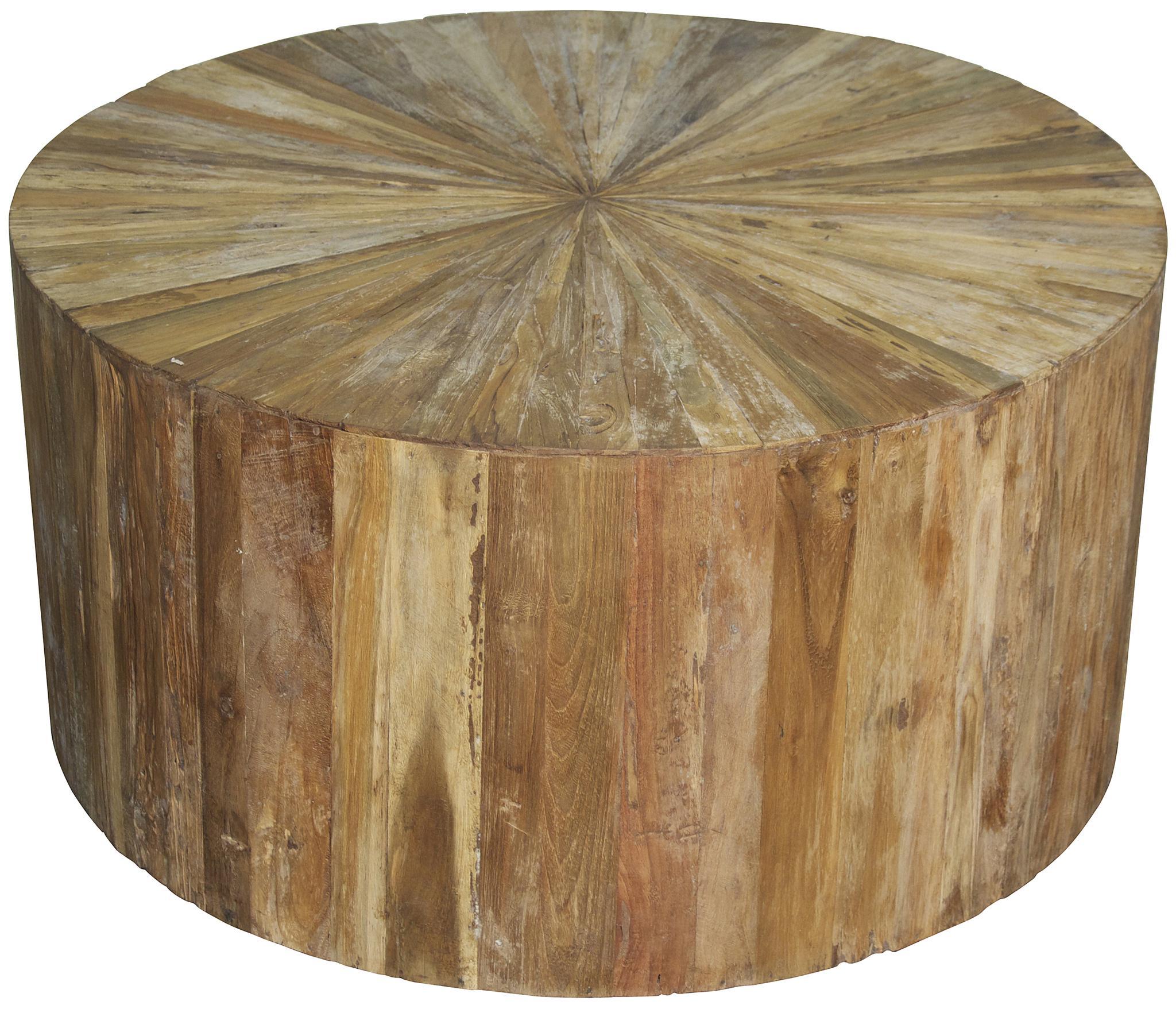 Round Teak Wood Coffee Table cocktail tables noir