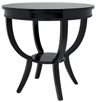 QS Scheffield Round End Table, Black
