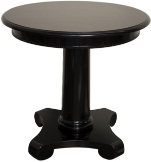 Antigua Round End Table, Black