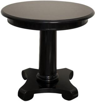 Antigua Round End Table, Black