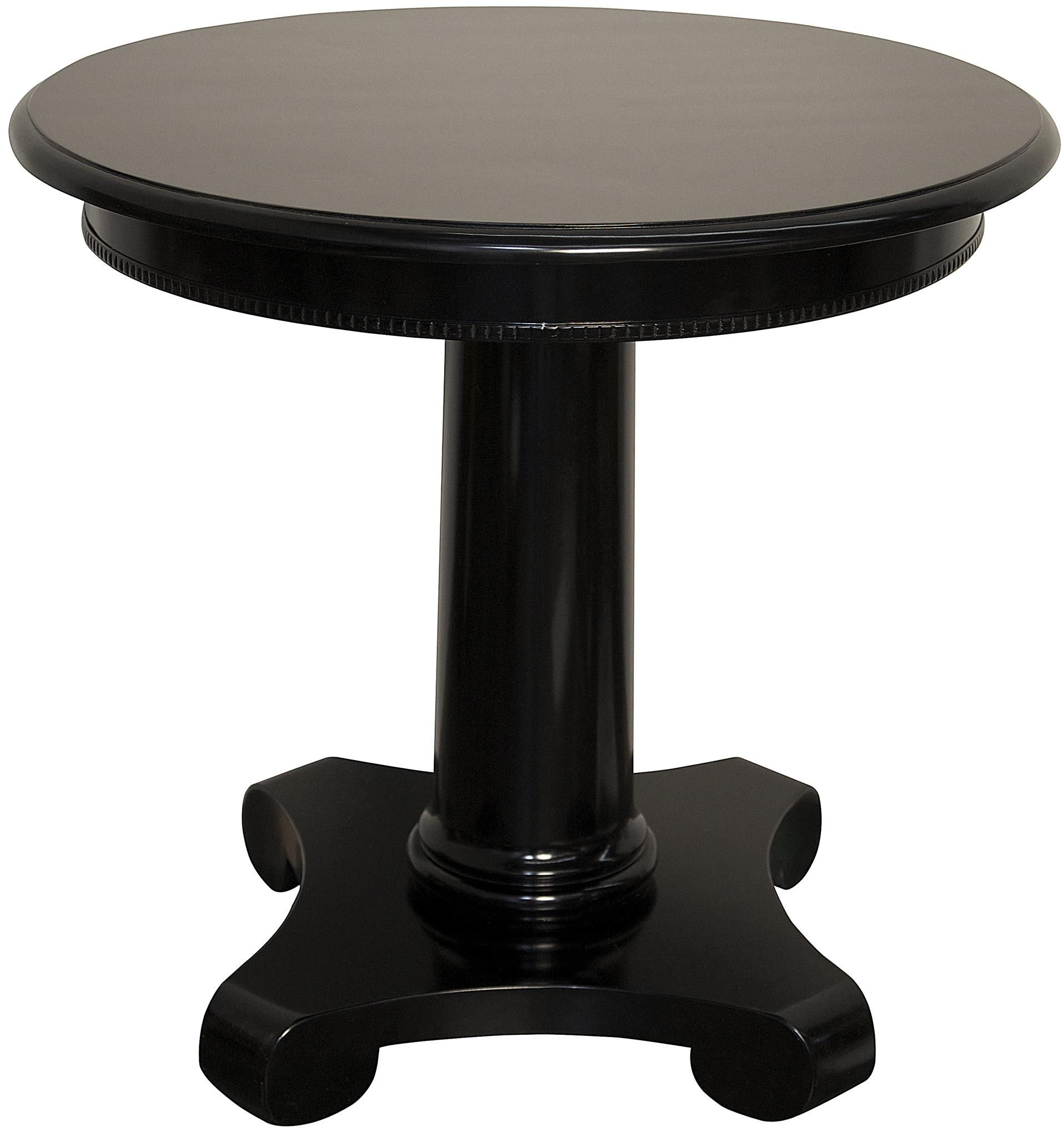 Elegant Antigua Round End Table, Black