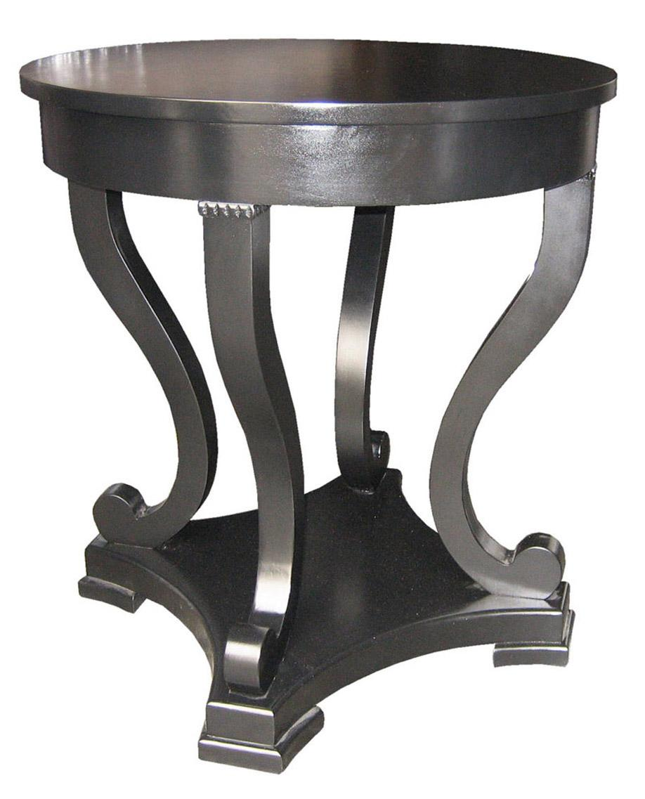 Bilbao Round End Table, Black - accent tables (noir)