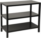 QS 2 Shelf Side Table, Hand Rubbed Black