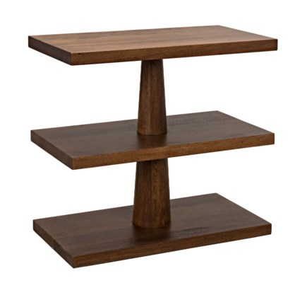 QS Fatima Side Table, Dark Walnut