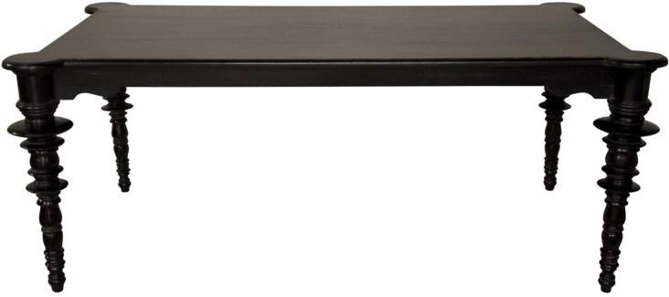 Ferret Dining Table, Distressed Black