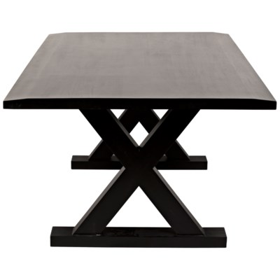 QS X Dining Table, Hand Rubbed Black