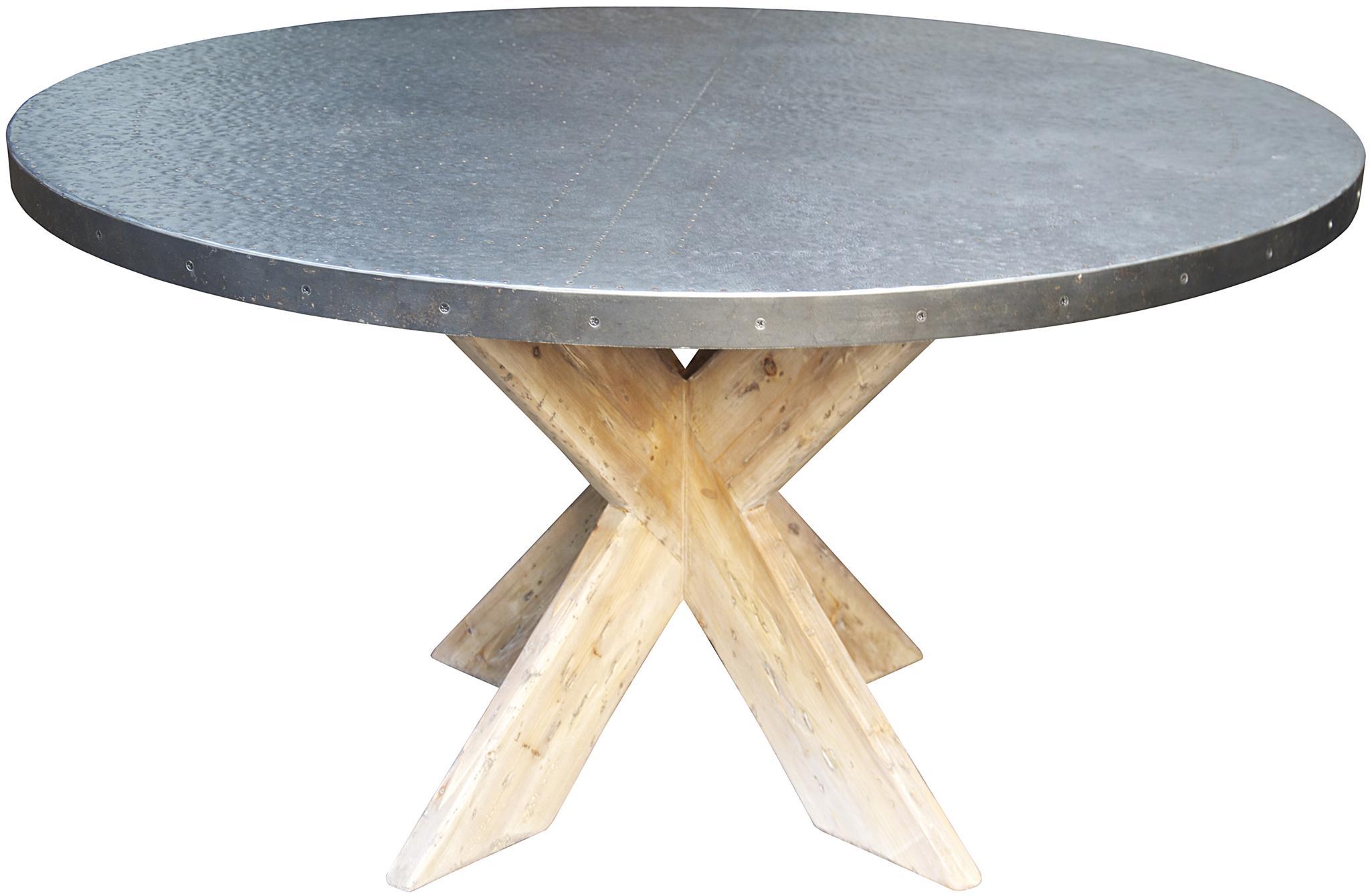"Austin Table with Zinc Top 54"" dining tables noir"