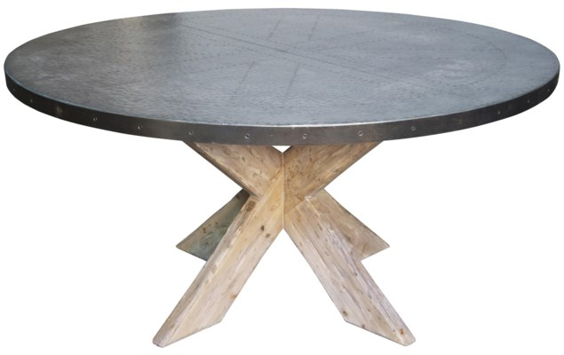 """Austin Table with Zinc Top, 60"""""""