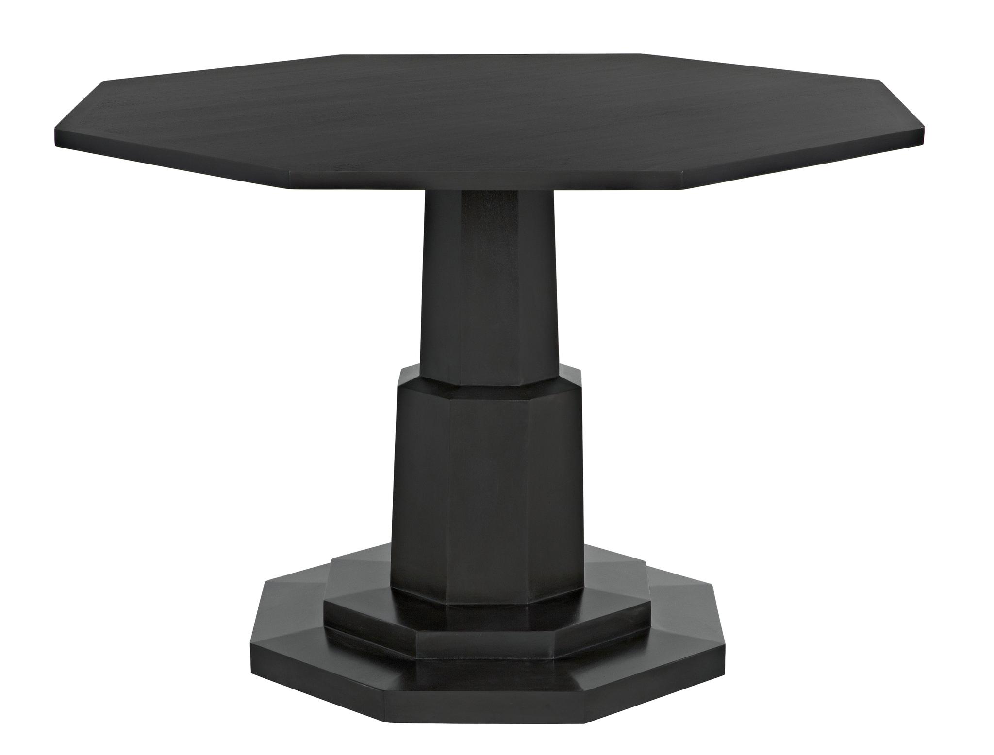 QS Octagon Table Pale dining tables noir