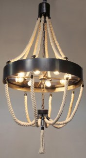 Alec Chandelier, Metal and Rope