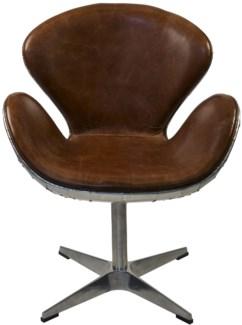 Leather Chair, Half Aluminum