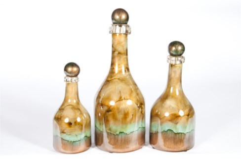 Bottle Set of 3 in Canyon Rock Finish
