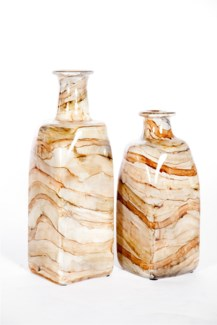 Large Square Bottle in Sanderling Finish