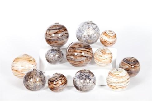 Set of 12 Spheres in Stone Court, Driftstone, Sanderling Finish