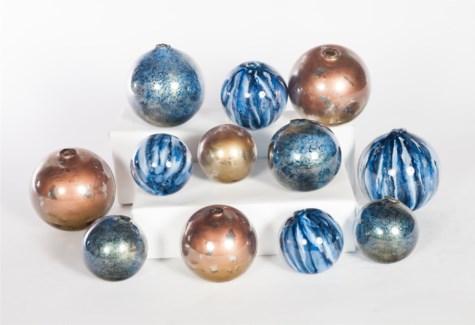 Set of 12 Spheres in Starry Night, Quiet Storm & Spirit