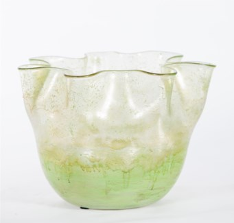 Large Glass Bowl in Elf Jade