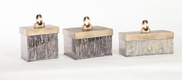 Small Glass Box in Concord w/ Gold Lid