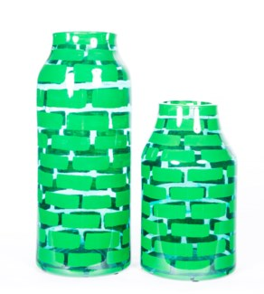 Small Bottle in Green Bricks