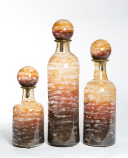 Large Bottle with Top in Auburn