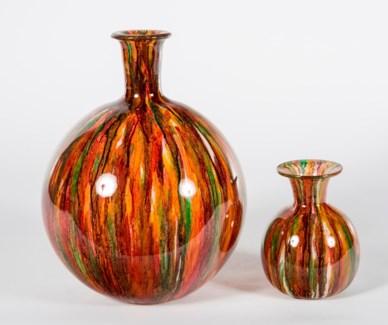 Large Bulb Vase in Chili Pepper Finish