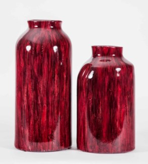 Large Cooper Vase in Berry Wine Finish