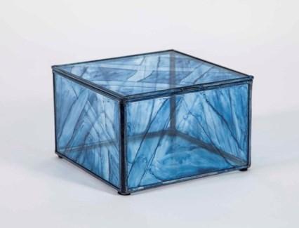 Medium Square Box in Aquatic Haze Finish