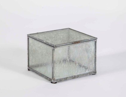 Small Square Box in Frosted Sky Finish