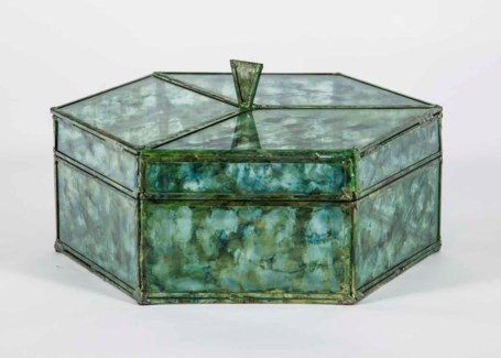 Octagonal Box in Sea Glass Finish