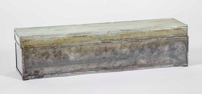 Long Rectangle Box in Solid Amethyst Finish